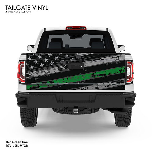US FLAG TAILGATE VINYL (GREEN)