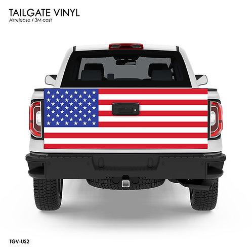 US FLAG TAILGATE VINYL v.2 (Classic)