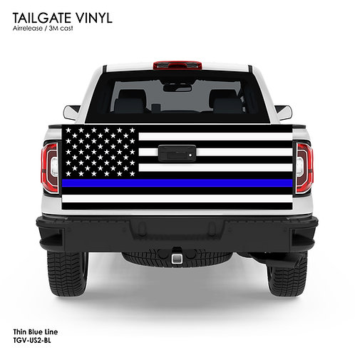 US FLAG TAILGATE VINYL v.2 (BLUE)