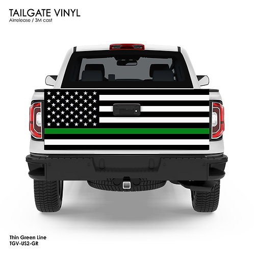 US FLAG TAILGATE VINYL v.2 (GREEN)