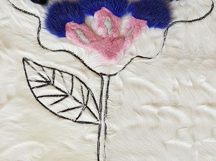 Flower intarsia