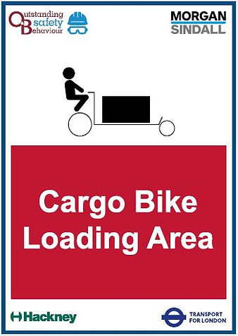 O&B Morgan Sindall Cargo Bike Loading Ar