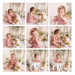 Premium cake smash session with baby girl