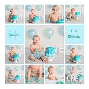 Digital cake smash session with baby boy