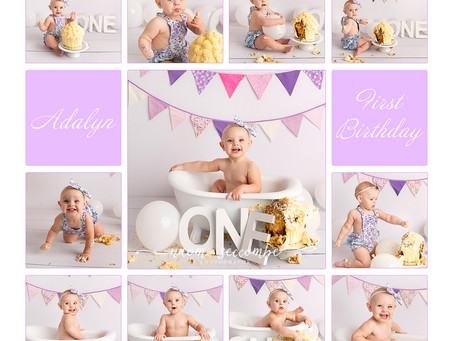 Adalyn's First Birthday Cake Smash