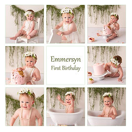 baby girls cake smash session with gippsland photographer