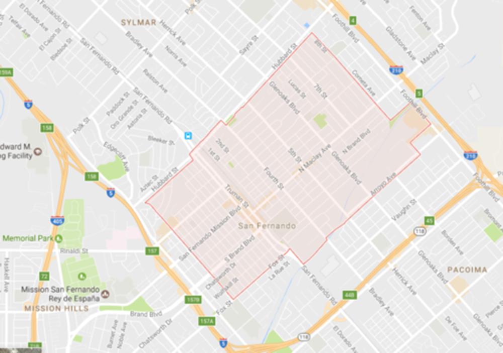 City of San Fernando, Courtesy Google Maps