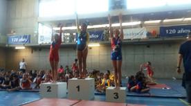 Premiación Nivel 1 Franja 3  barras asimétricas, Tercer lugar Javiera Sotomayor.