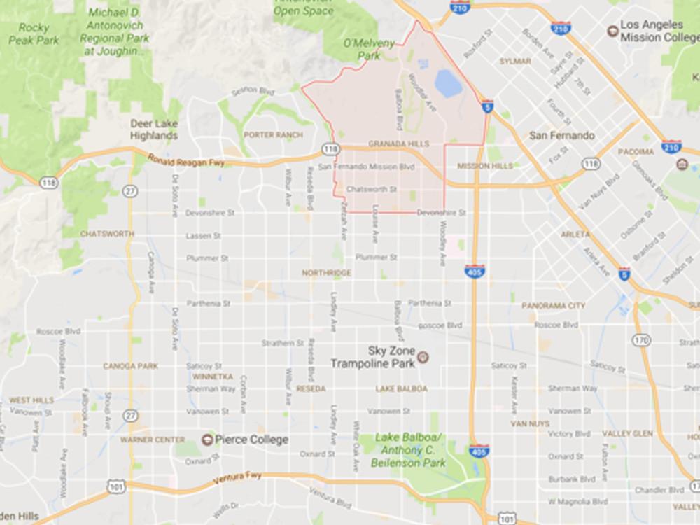 Granada Hills, Courtesy Google Maps