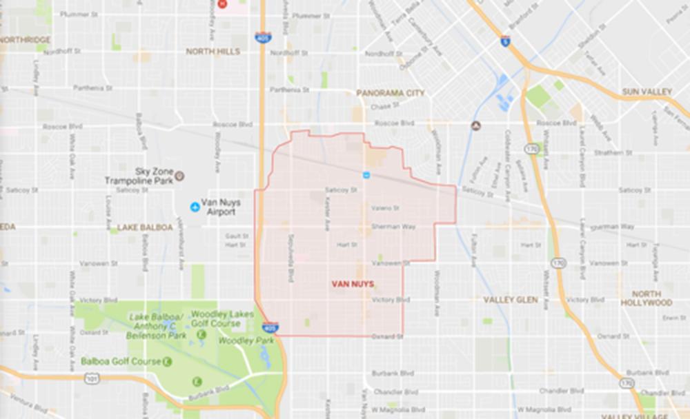 Van Nuys, Courtesy Google Maps