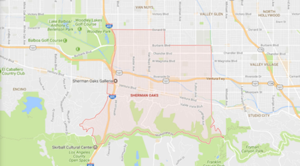 Sherman Oaks, Courtesy Google Maps