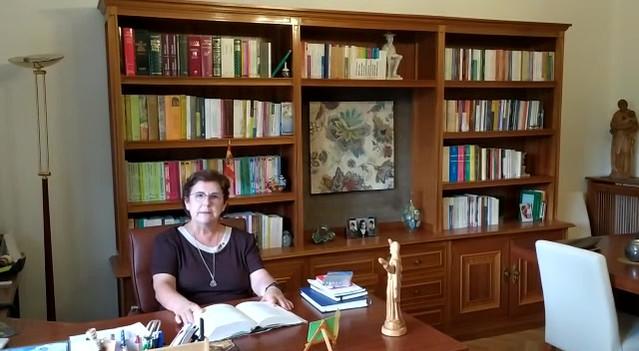 Saludo de Superiora General de la Congregación de Hermanas Josefinas Trinitarias.