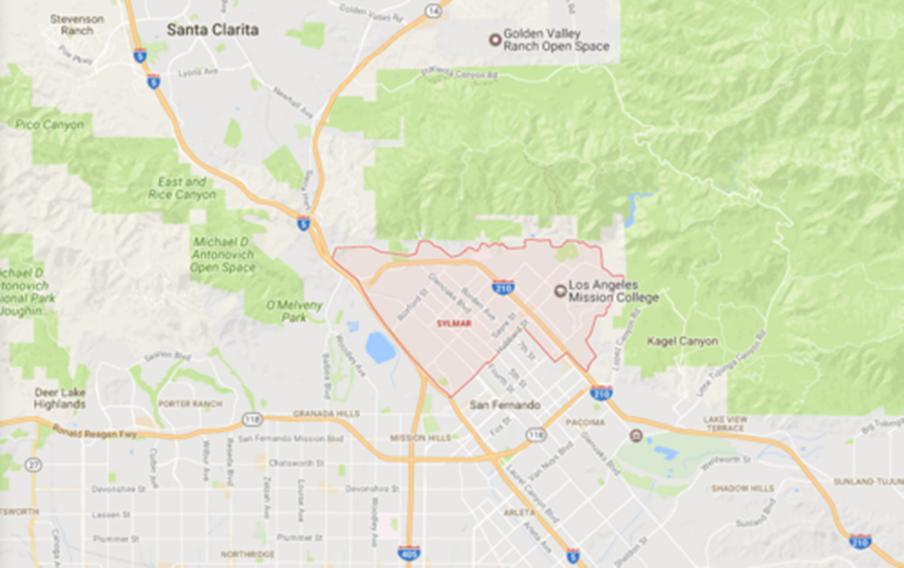 Sylmar, Courtesy Google Maps