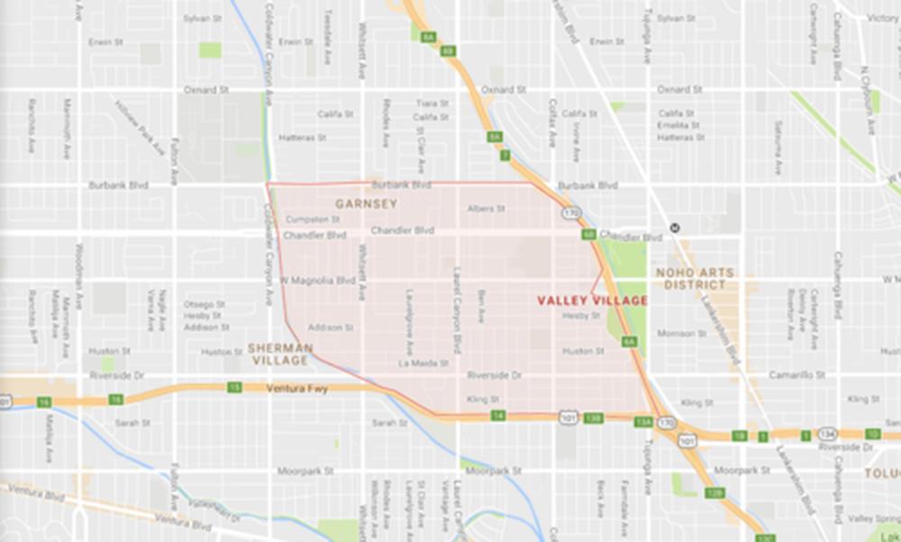 Valley Village, Courtesy Google Mapsc