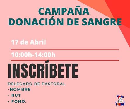 """Campaña: """"Donación de sangre"""""""
