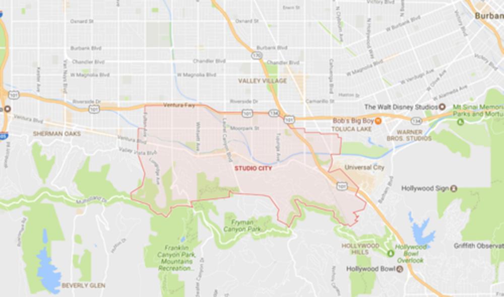 Studio City, Courtesy Google Maps