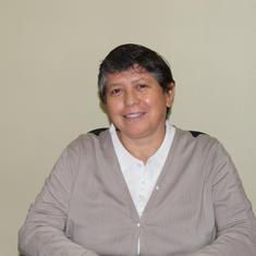 Hna. Karen Pinto. Sostenedora