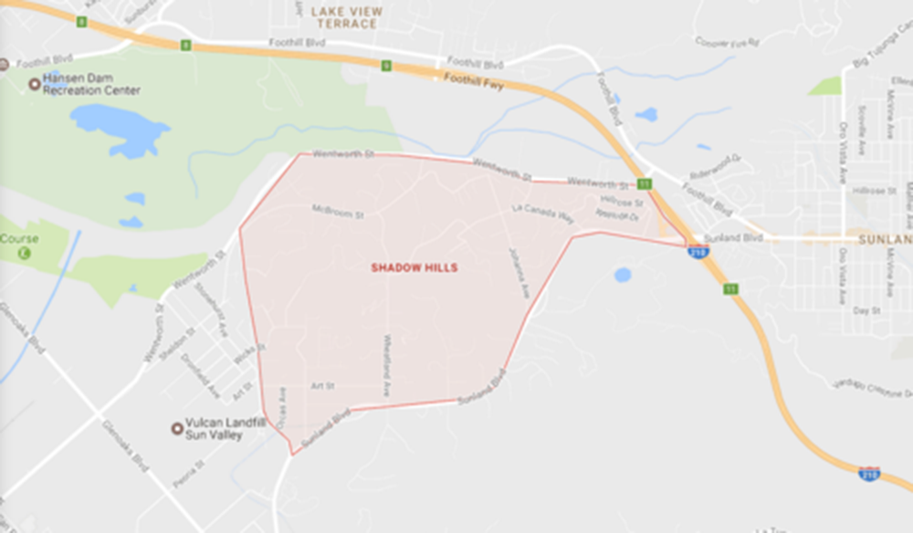 Shadow Hill, Courtesy Google Maps