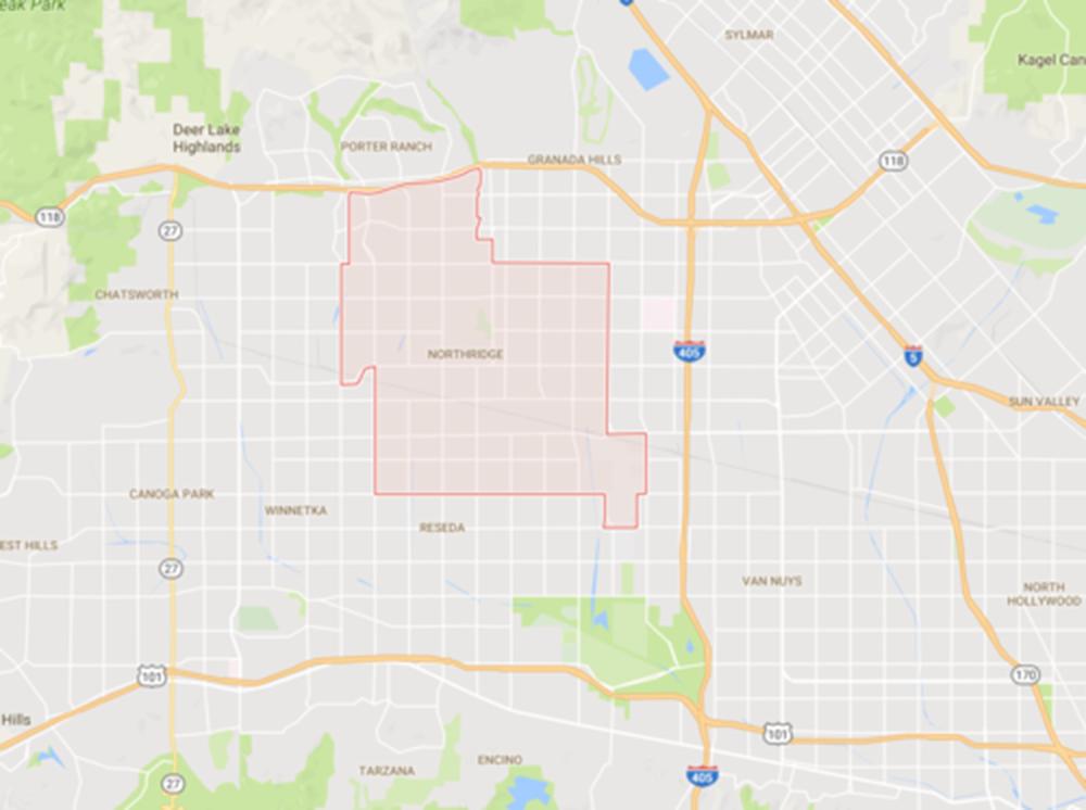 Northridge, Courtesy Google Maps