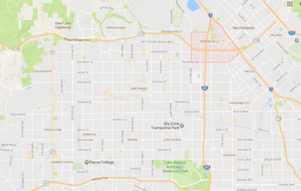 Mission Hills, Courtesy Google Maps