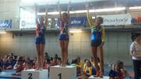 Premiación Salto Nivel 1 franja 3, Primer lugar Flavia Polle, Segundo lugar Javiera Sotomayor.