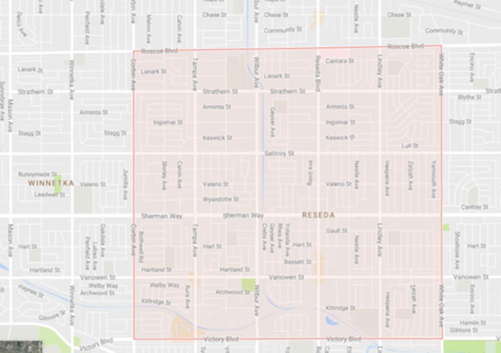 Reseda, Courtesy Google Maps