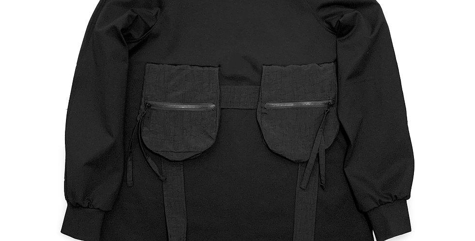 Sweater oversize bolsillos cargo