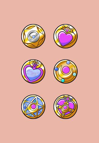 Sailor Moon Sub Badges