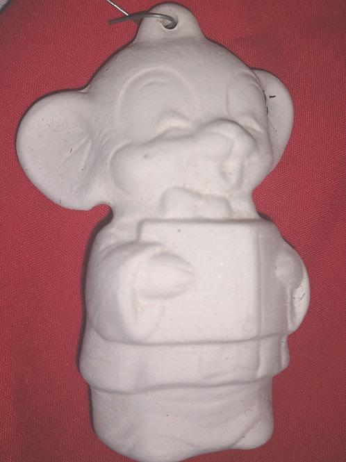 Male caroling 🐁 mouse ornament