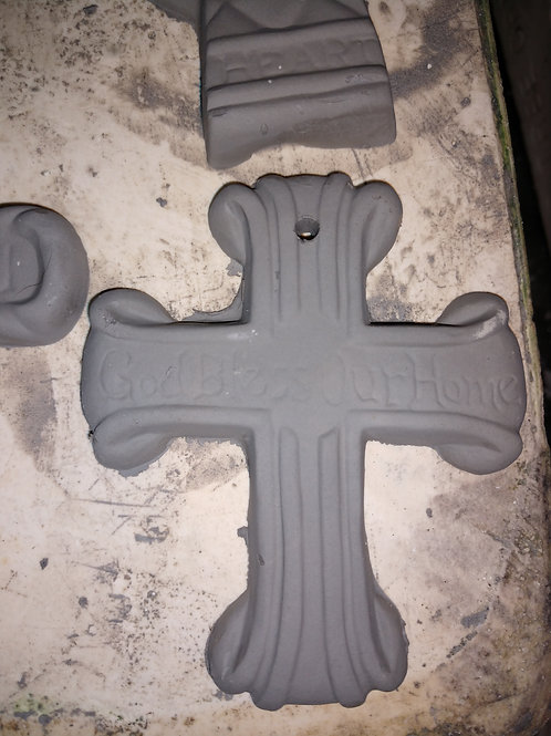 """""""God Bless Our Home"""" cross ornament"""