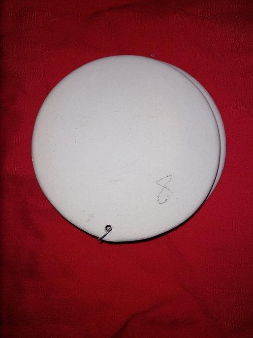 Round flat ornament