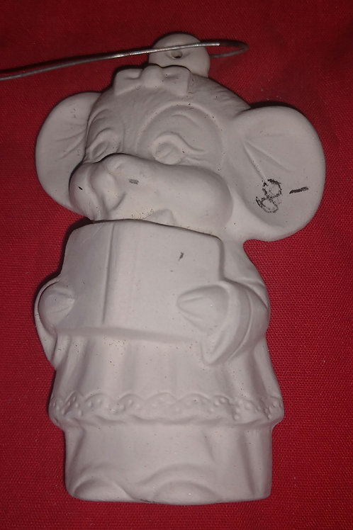 Female caroling mouse ornament