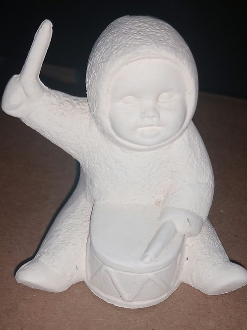 Snowbaby with drum