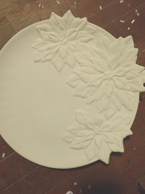 Poinsettia plate