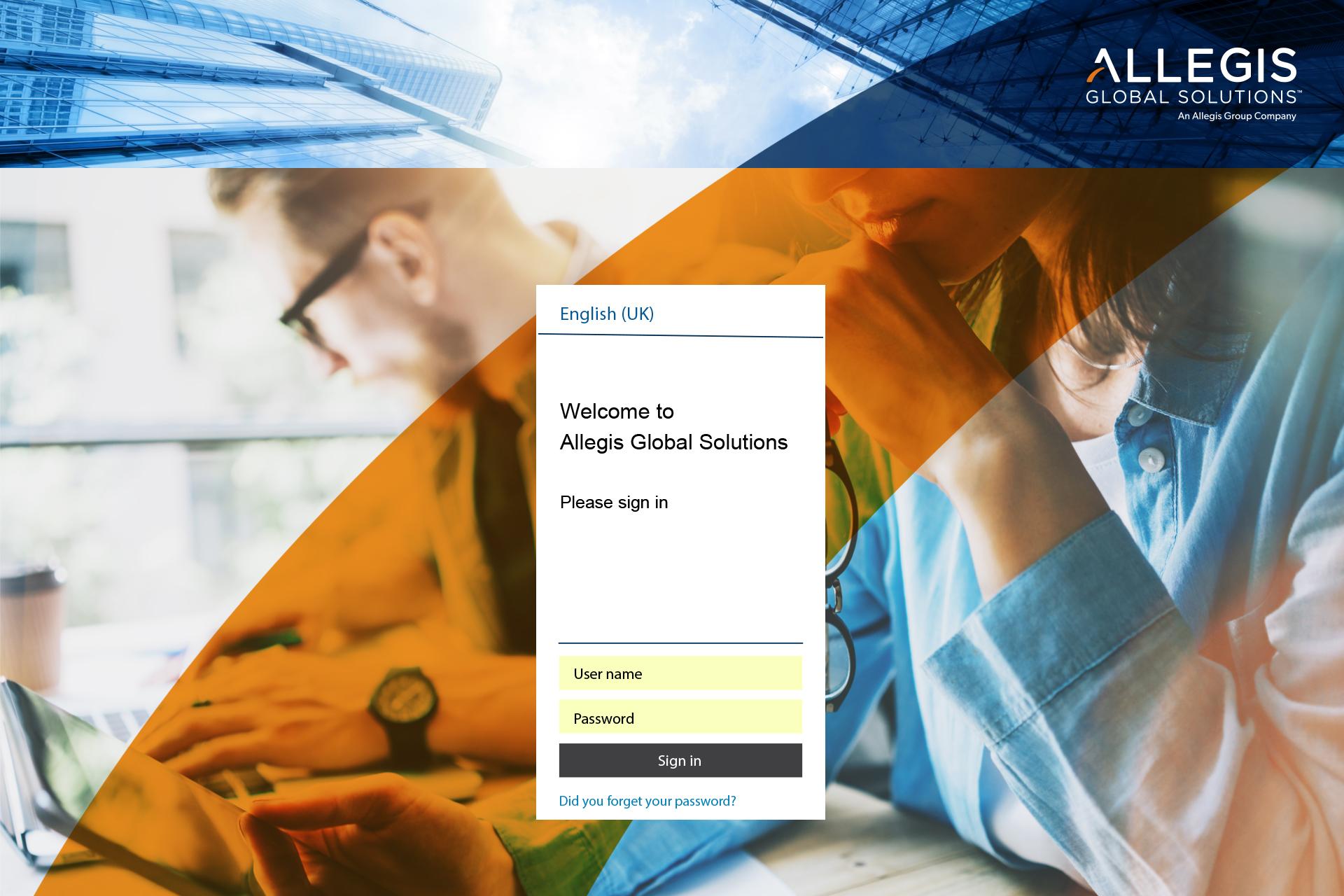 Internal Landing Page