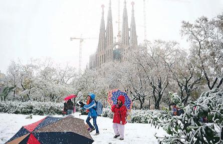 Сильный снегопад в Испании побил рекорд 1971-го года