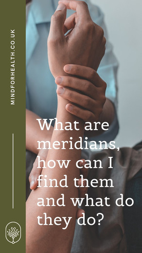 What are meridians, how can I find them and what do they do?