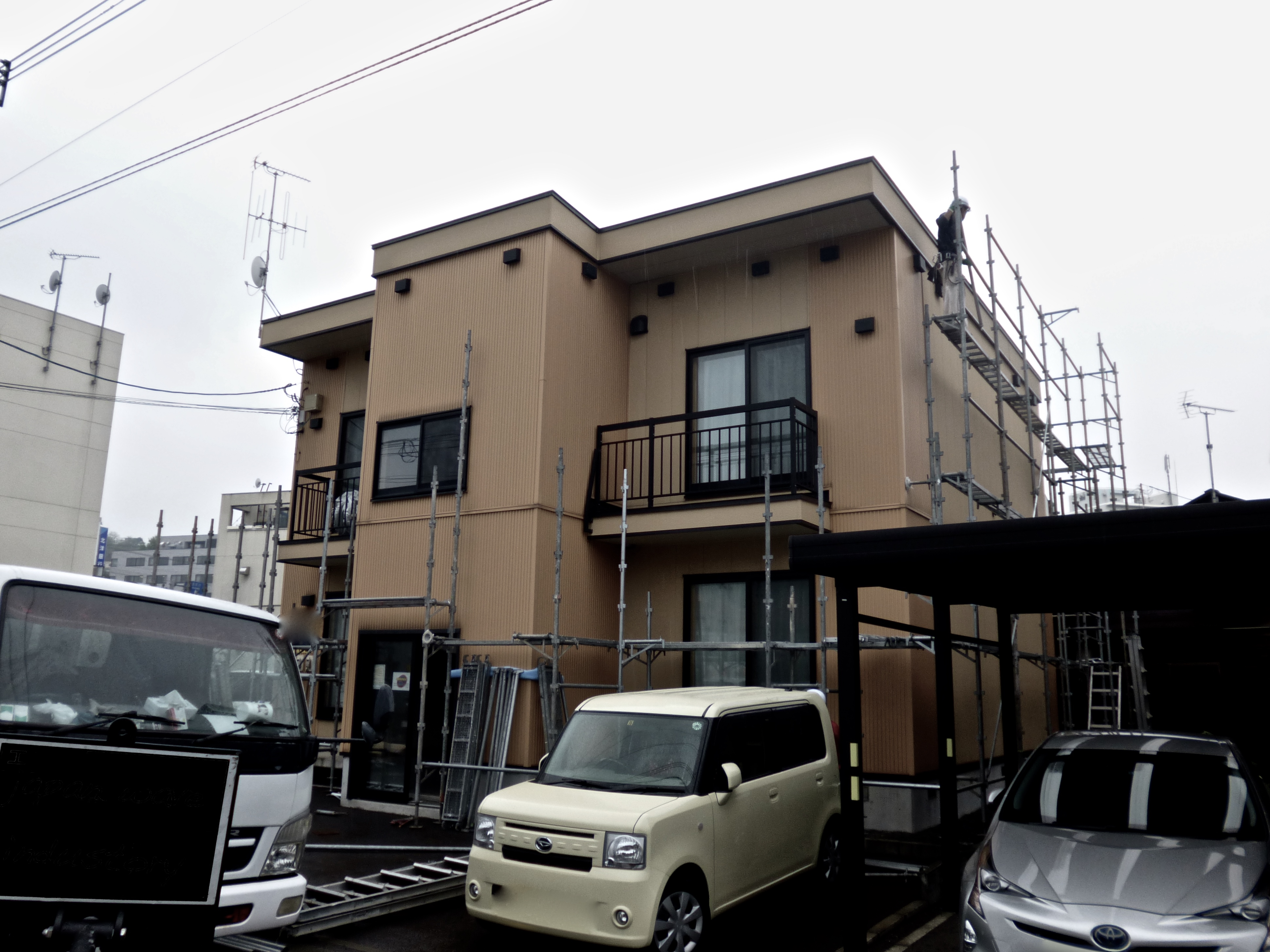 塗装|札幌市|足場|ビフォーアフター|