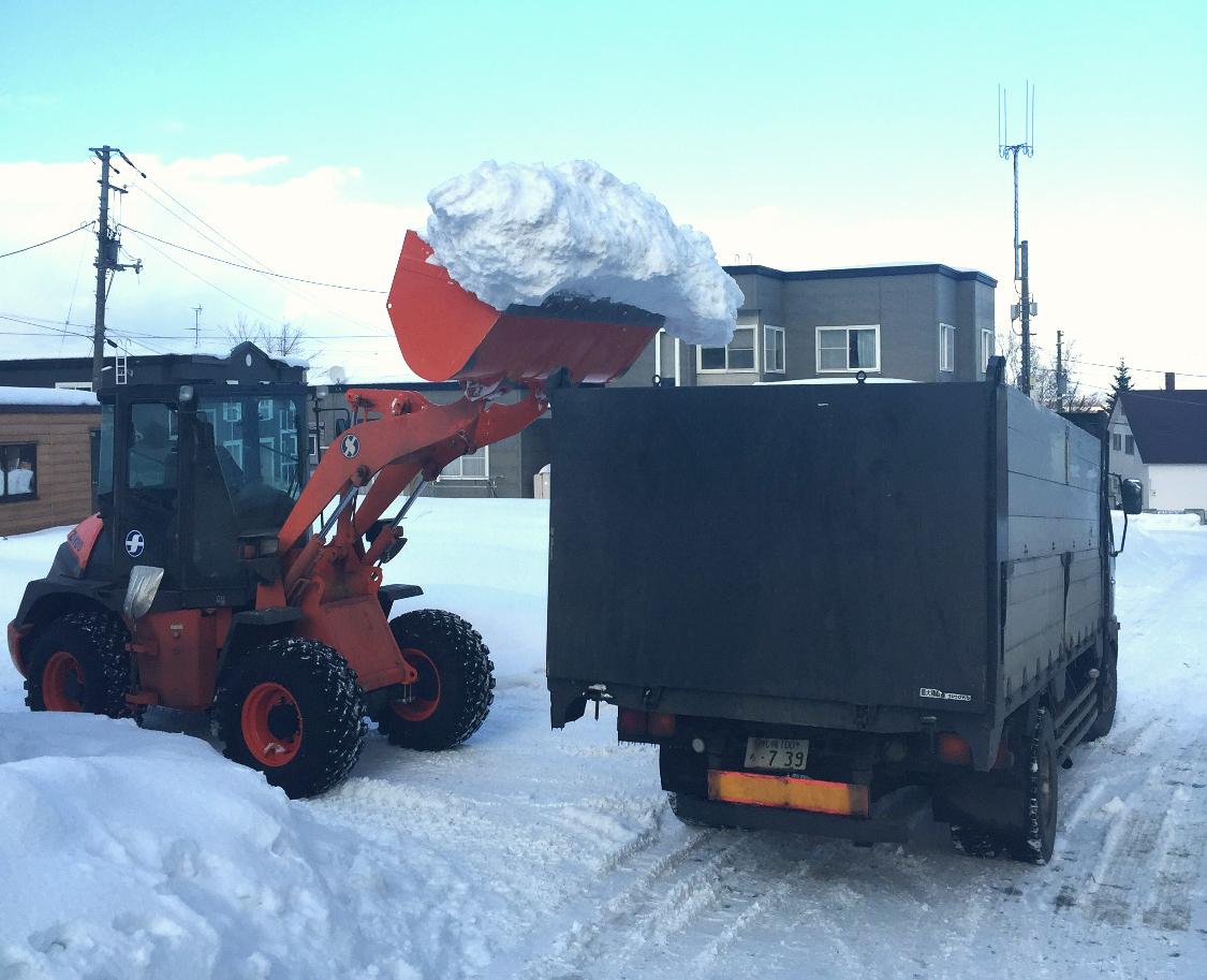 除排雪の作業風景