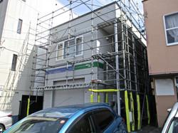 札幌市 塗装 足場 施工例 