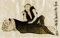 Japanse shiatsu meester geeft een shiatsu behandeling