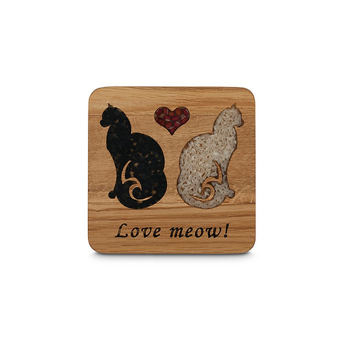 PERSONALISED COASTER  -CATS