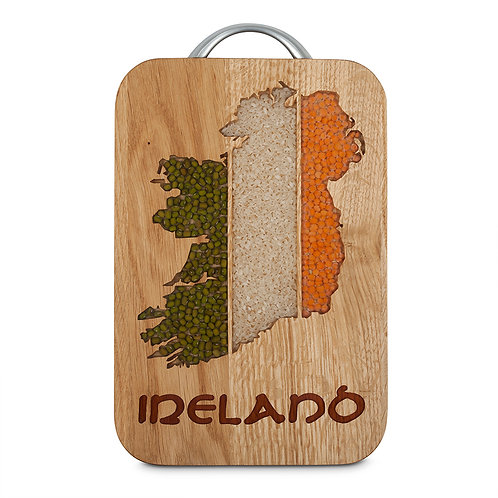 PERSONALISED CHEESE BOARD  -  MAP OF IRELAND