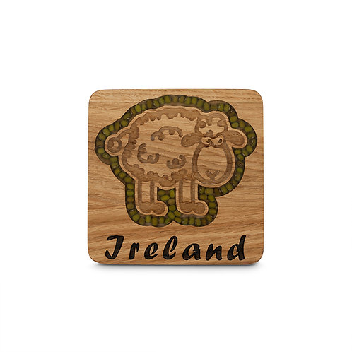 PERSONALISED COASTER  -SHEEP
