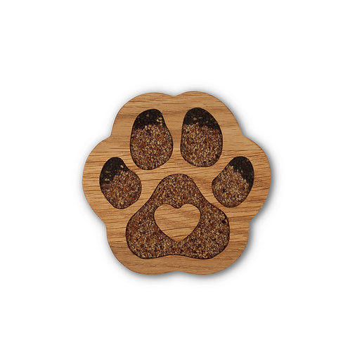 PERSONALISED COASTER  -PAWS