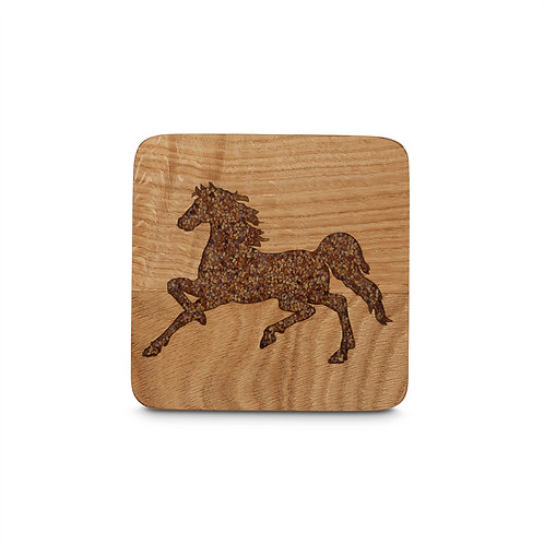 PERSONALISED COASTER  -HORSE
