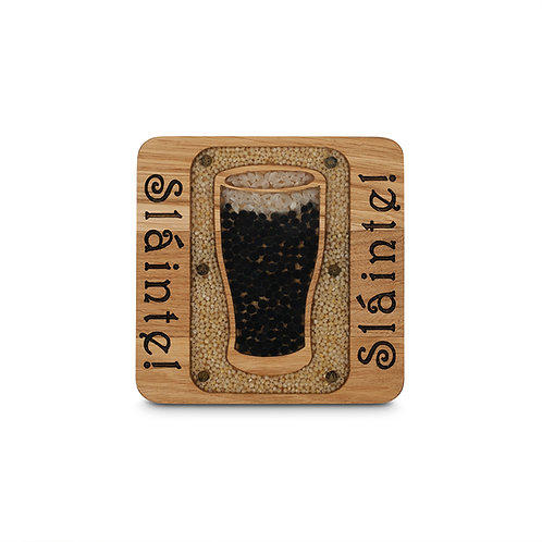 PERSONALISED COASTER  - SLAINTE