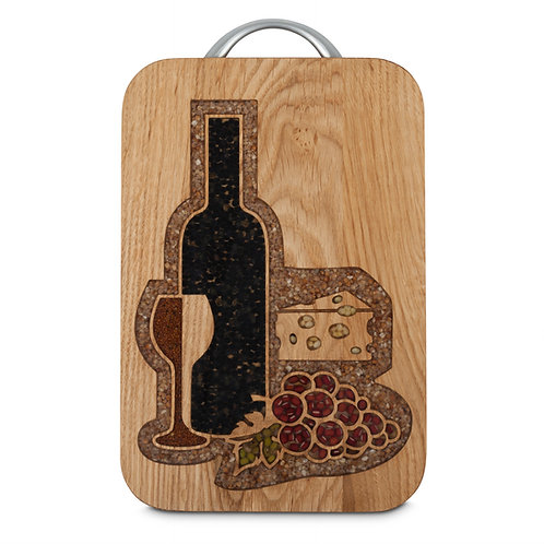 PERSONALISED CHEESE BOARD  -WINE