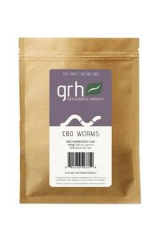 Gummy Hemp Oil Extract (CBD) Sour Worms (150mg/10pcs)