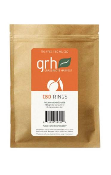 Gummy Hemp Oil Extract (CBD) Peach Rings (150mg/10pcs)